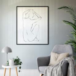Canvas klassiskt motiv kvinna