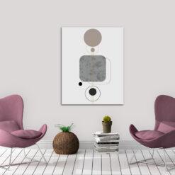 Canvas med geometriskt modernt motiv