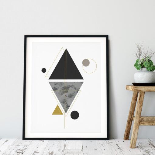 Canvas med ett geometriskt modernt motiv