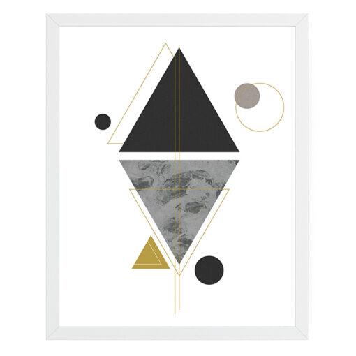 Tavla med geometriskt och modernt motiv