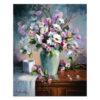 Tavla med klassiskt blomstermotiv