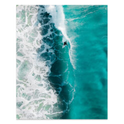 Tavla med surfmotiv