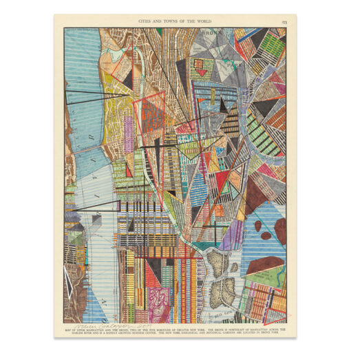 Modern map of New York