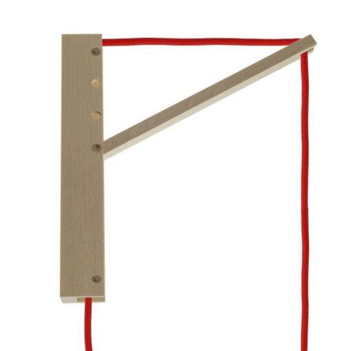 Lampuppäng i trä för väggmontering