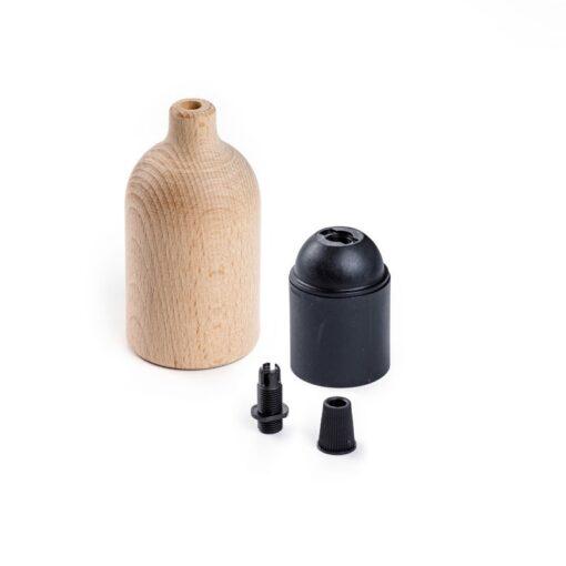 Lamphållare E27 i trä